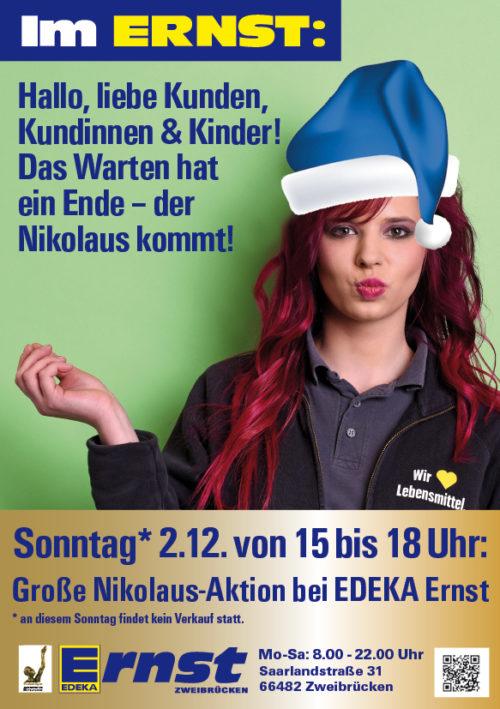 Nikolaus-Aktion bei Edeka Ernst in Zweibrücken