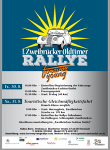 1. Zweibrücker Oldtimer Rallye, 30./31.08.2019
