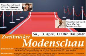 Zweibrücker Modenschau - 13. April 2019, 11.00 Uhr